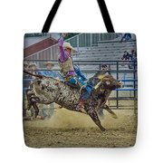Bareback Bronc Riding Tote Bag