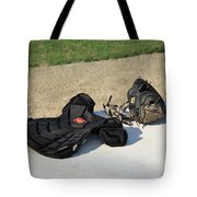 Baseball Glove And Chest Protector Tote Bag