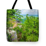 Beautiful Aerial Landscape Views From Crowders Mountain North Ca Tote Bag