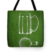 Beer Mug Patent From 1876 - Green Tote Bag