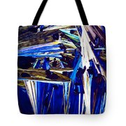 Benzoic Acid Crystals In Polarized Light Tote Bag