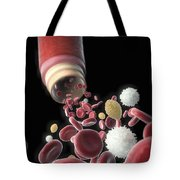 Blood Vessel With Cells Tote Bag