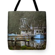 3 Blue Boats Tote Bag