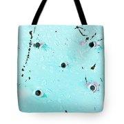 Blue Metal Tote Bag