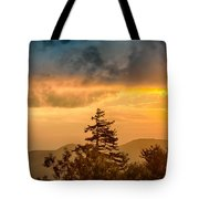 Blue Ridge Parkway Autumn Sunset Over Appalachian Mountains  Tote Bag