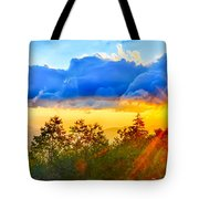 Blue Ridge Parkway Late Summer Appalachian Mountains Sunset West Tote Bag