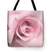 Blushing Pink Rose Flower Tote Bag
