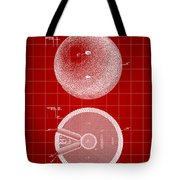 Bowling Ball Patent 1894 - Red Tote Bag