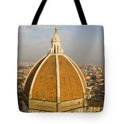 Brunelleschi's Dome At The Basilica Di Santa Maria Del Fiore Tote Bag