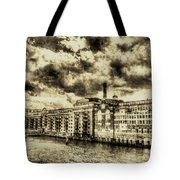 Butlers Wharf London Vintage Tote Bag