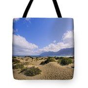 Caleta De Famara Beach On Lanzarote Tote Bag