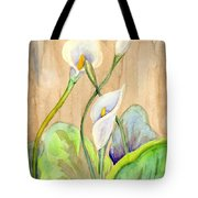 3 Calla Lilies Tote Bag