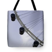 3 Capsules Of The Singapore Flyer Along With The Spokes And Base Tote Bag