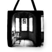 3 Castle Rooms Bw Tote Bag