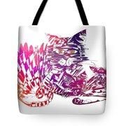 3 Cats Purple Tote Bag