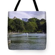 Central Park Pond Tote Bag