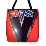 Chevrolet Corvette Hood Emblem Tote Bag