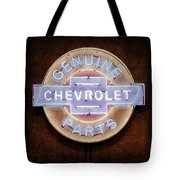 Chevrolet Neon Sign Tote Bag