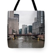 Chicago Skyline And Streets Tote Bag