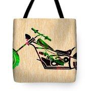 Chopper Motorcycle Tote Bag