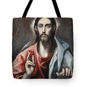 Christ Blessing Tote Bag