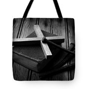 Christian Cross And Rusty Nails Tote Bag