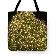 Christmas Tree Ornaments Faneuil Hall Tree Boston Tote Bag