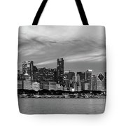 City At The Waterfront, Lake Michigan Tote Bag