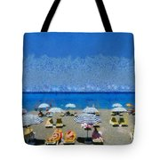 Beach At The City Of Rhodes Tote Bag