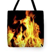 Close-up Of Fire Flames Tote Bag