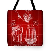Cocktail Mixer And Strainer Patent 1902 - Red Tote Bag