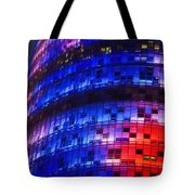 Colorful Elevation Of Modern Building Tote Bag