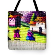 Colorful Fabric At Market In Peru Tote Bag