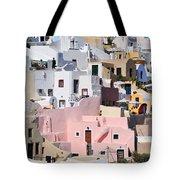 Colorful Oia Tote Bag