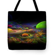 Computer Generated Spheres Abstract Fractal Flame Art Tote Bag