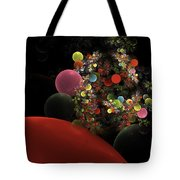 Computer Generated Spheres Abstract Fractal Flame Tote Bag