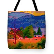 Cowichan Bay From Doman's Road Tote Bag