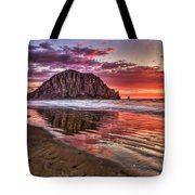 Crimson Sunset Tote Bag