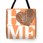 Dallas Street Map Home Heart - Dallas Texas Road Map In A Heart Tote Bag