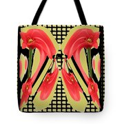 Dancing Tulip Red Exotic Flower Petal Based Wave Pattern  Created By Navinjoshi Reiki Healing Master Tote Bag