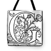 Decorative Initial G Tote Bag