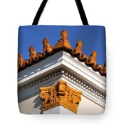 Decorative Roof Tiles In Plaka Tote Bag