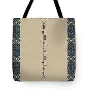 Delaney Written In Ogham Tote Bag
