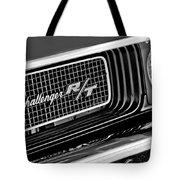 Dodge Challenger Rt Grille Emblem Tote Bag