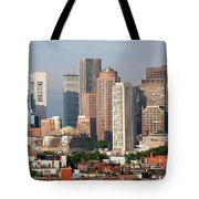 Downtown Boston Skyline Tote Bag