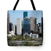 Downtown Houston Skyline Tote Bag