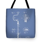Drill Pounder Patent Drawing From 1922 Tote Bag by Aged Pixel