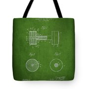 Dumbbell Patent Drawing From 1935 Tote Bag
