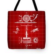 Edison Phonograph Patent 1878 - Red Tote Bag