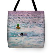 Enjoying The Water In The Coral Reef Lagoon Tote Bag